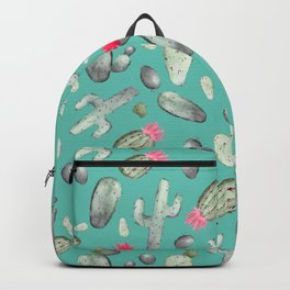 Cactus Pattern | Cacti Print Hot Pink onTeal Backpack