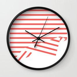 Line Fold Wall Clock