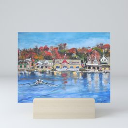 Boathouse Row, Philadelphia Mini Art Print