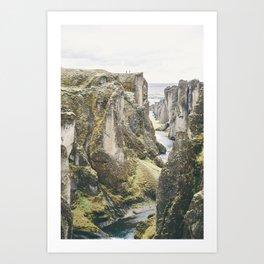 The Fjaðrárgljúfur canyon  (part 3) Art Print