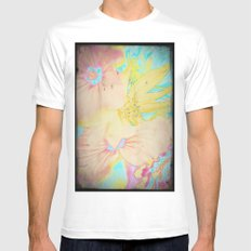 Flower bouquet...Copycolor MEDIUM White Mens Fitted Tee