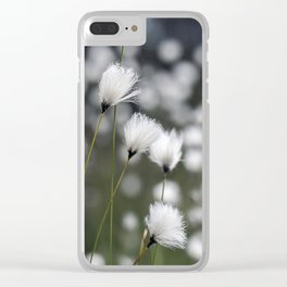 Wispy Flowers Clear iPhone Case