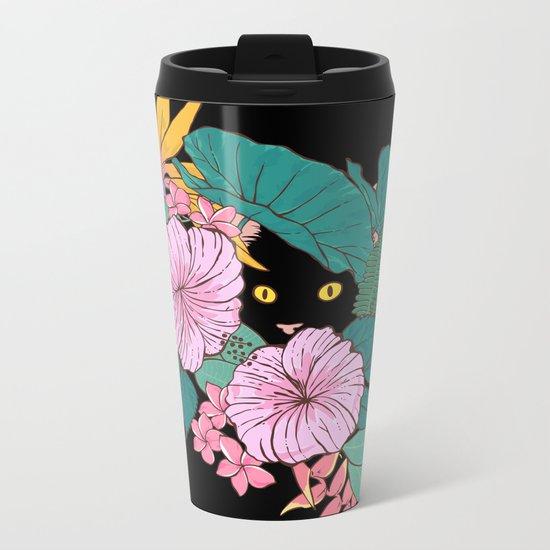 Hibiscus Metal Travel Mug