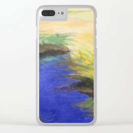 Saltwater Marsh Clear iPhone Case