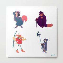 The many disguises of Robin Hood Metal Print