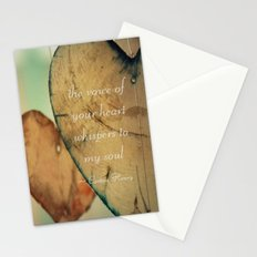 The Voice Of Your Heart Whispers To My Soul - Wind Chimes - Rustic - Wedding - Valentine's Day Stationery Cards