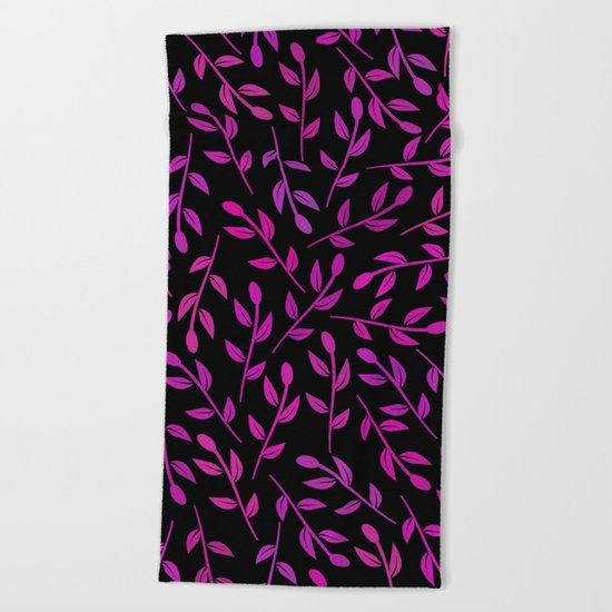 Colorful Leaves VII Beach Towel