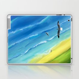 Birds view above sea. Laptop & iPad Skin