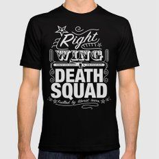 Right Wing Death Squad 6 Black MEDIUM Mens Fitted Tee