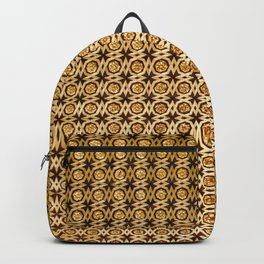 Gold and wood carving pattern Backpack