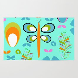 Dragonfly in the garden Rug