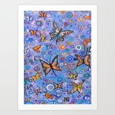 Butterflies are Free Art Print