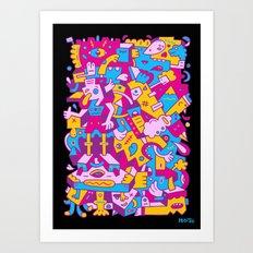 Castigated Crumpets Art Print