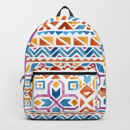 Geometric colorful Watercolor Pattern Backpack