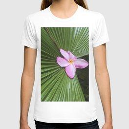 Pink Plumeria Flower T-shirt