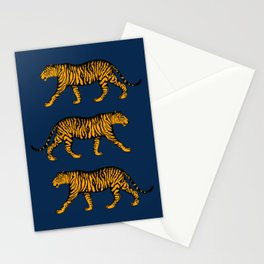 Tigers (Navy Blue and Marigold) Stationery Cards