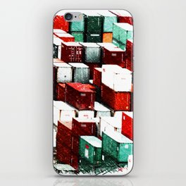 Mint Red Shipping Containers  iPhone Skin