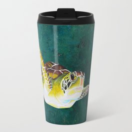 Testudines over Teal Travel Mug