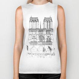 Notre Dame de Paris Biker Tank
