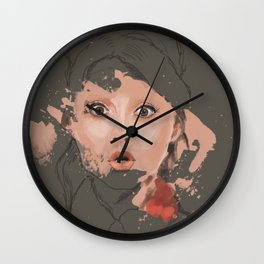 Splash portrait Wall Clock