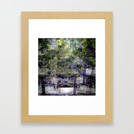 To regress and nudge so is to insist on none such. Framed Art Print