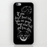 cheshire cat iPhone & iPod Skins featuring Cheshire Cat by Kellabell9