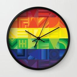 Rainbow Geometric Wall Clock