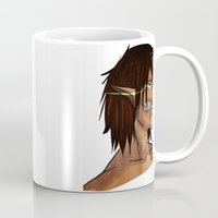 titan Mugs featuring Titan Form by JemyArt