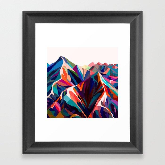 Mountains sunset warm Gerahmter Kunstdruck
