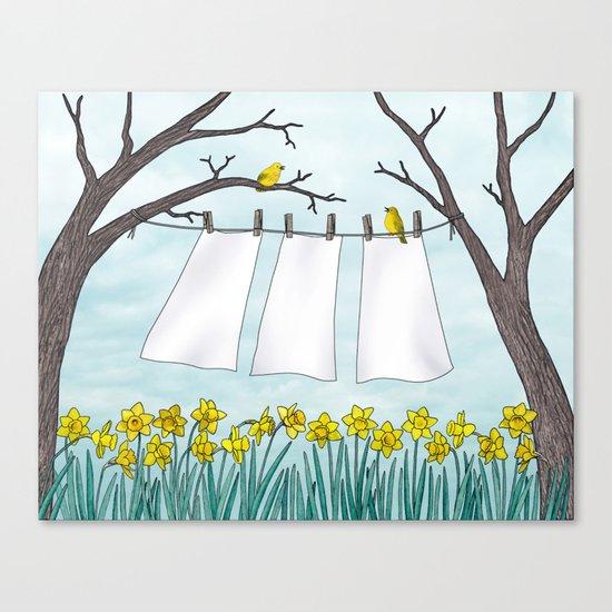 spring clean Canvas Print