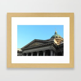 Facade of Kazan Cathedral Framed Art Print