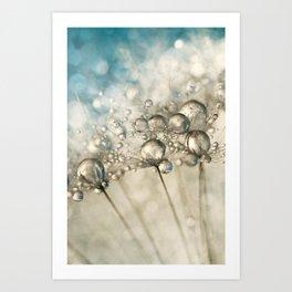Sapphire & Silver Sparkle Art Print