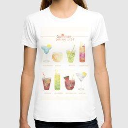 Summer Cocktails 7 T-shirt