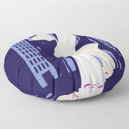 Beautiful cat walk. Art deco stylish illustration Floor Pillow