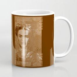 Frida Kahlo - between worlds - sepia Coffee Mug