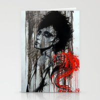 pain Stationery Cards featuring Pain by Clayton Young