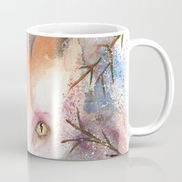 Loose Watercolor Red Fox Coffee Mug