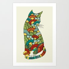 Cat lover Art Print