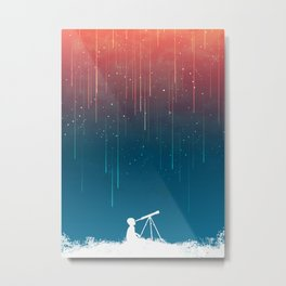 Meteor Rain (light version) Metal Print