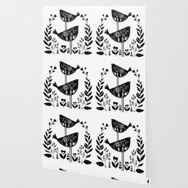 Danish Birds Of Good Luck And Good Life Wallpaper