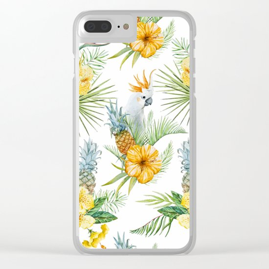 Pineapple Pattern 02 Clear iPhone Case