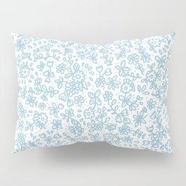 Blue little flowers Pillow Sham