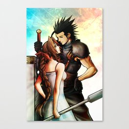 Zack and Aerith Canvas Print