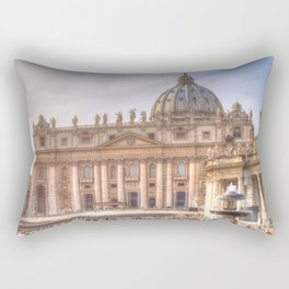 The Papal Basilica of the Saint Peter in the Vatican, Rome Rectangular Pillow