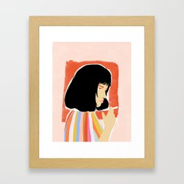 You're gonna be a lady soon Framed Art Print