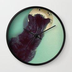 Cat and Saucer Wall Clock