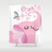 best friends Shower Curtains featuring Best Friends by Agnes Schugardt