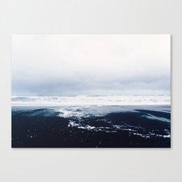 Reynisfjara Black Sand Beach, Vik, Iceland Canvas Print