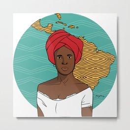 Black Latin American Woman Metal Print