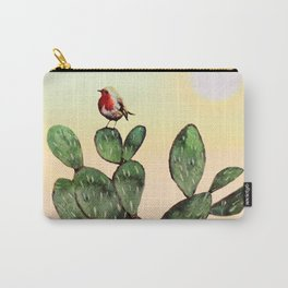 Cactus and a Bird Carry-All Pouch
